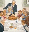 Holiday dinner Norman Rockwell